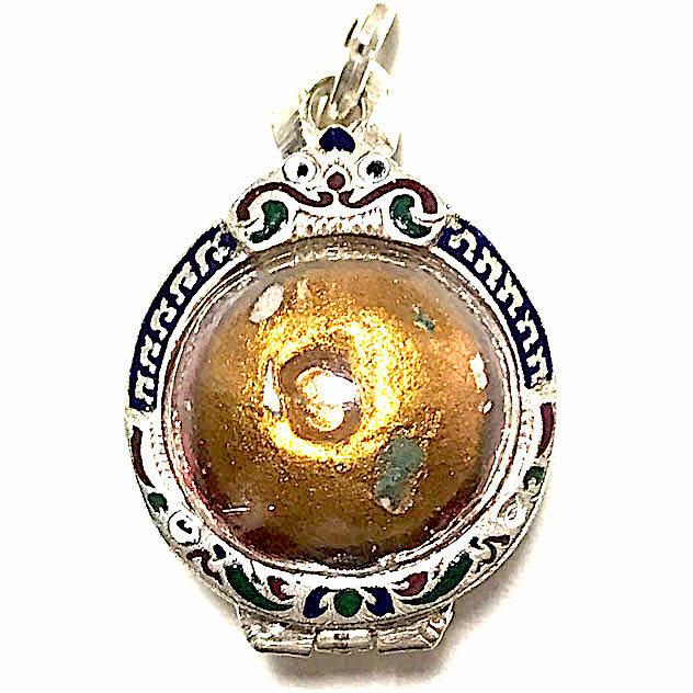 Look Om Pong Prai Kumarn Dtok Code 3 Niyom Ta Bronze Wanich 2517 BE Luang Phu Tim Issarigo 03416