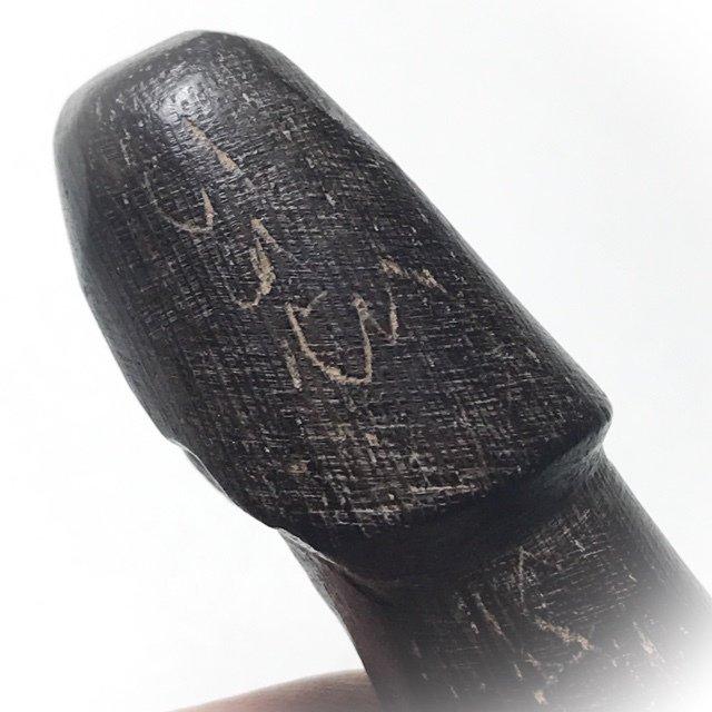 Palad Khik Mai Koon Dtok Code 3 Niyom Jarn Mer Hand Inscriptions by Luang Phu Tim Wat Laharn Rai