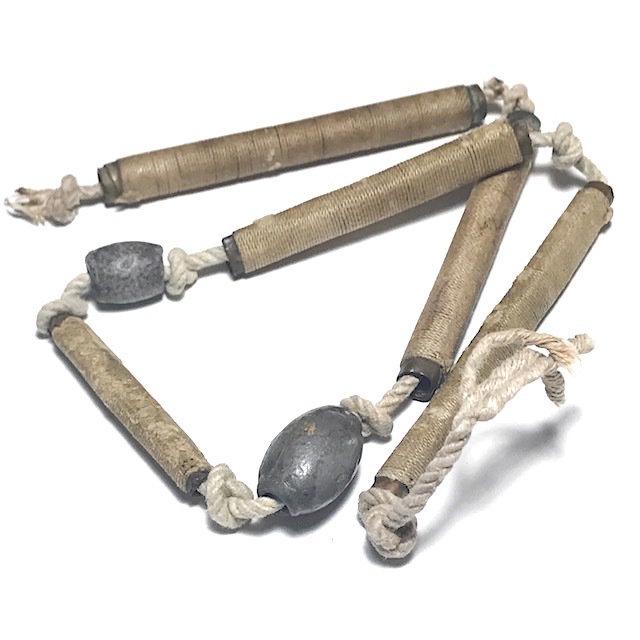 Sangwal Takrut Ha Dork Talismanic Necklace with 5 Takrut Tone 2 Look Sakot Magic Seals by Luang Por Guay 03425