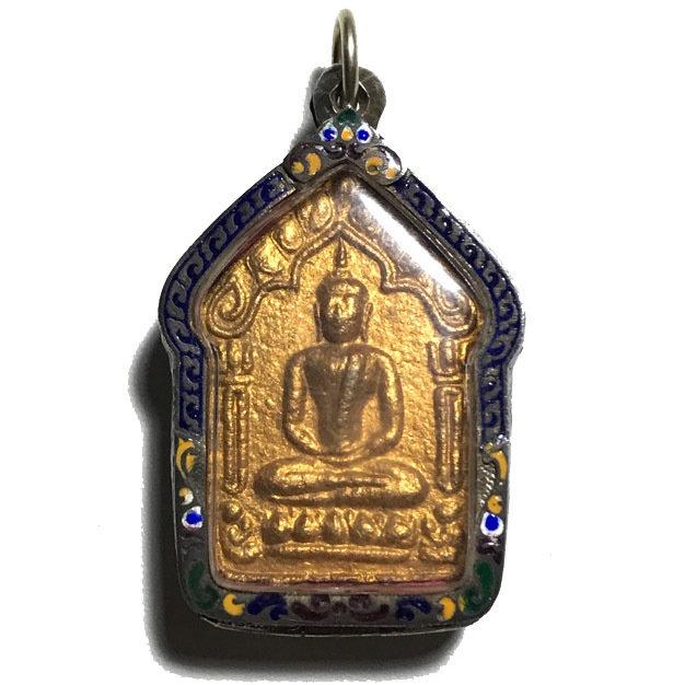 Khun Phaen Prai Kumarn Nuea Khaw Hniaw Sukh Ta Bronze Takrut Sariga Code Sala Code 3 & Certificate Luang Phu Tim