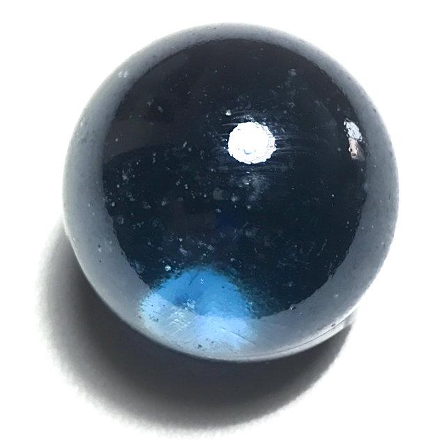 Look Gaew Sarapat Neuk Large Size 1 Inch Blue Crystal Wishing Ball Luang Por Opasi 03488