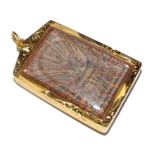 Pra Somdej Sai Rung - Wat Pikul Tong Centenary Edition - Gold Takrut - Luang Por Pae 2535 BE With Solid Gold Casing