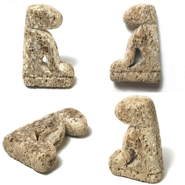 Suea Gae Tiger Amulet Carved Hipappotamus Tusk Early Era Luang Phu Tim Wat Laharn Rai