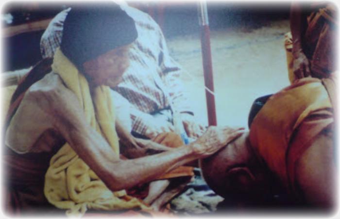 Hanuman Chompoo Nuch Pong Puttakun Pasom Wan 108 Tat Tong Gammagarn Blessed at Wat Sutat 5 Ceremonies - Luang Phu Hmun