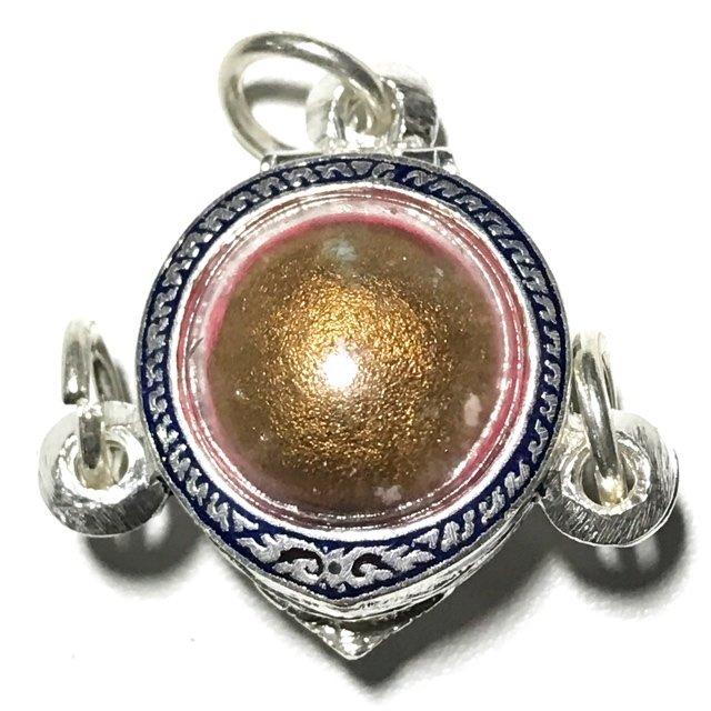 Look Om Pong Prai Kumarn Dtok Code 3 Niyom Ta Bronze Wanich Luang Phu Tim Released 2517 BE at Wat Po Sampant