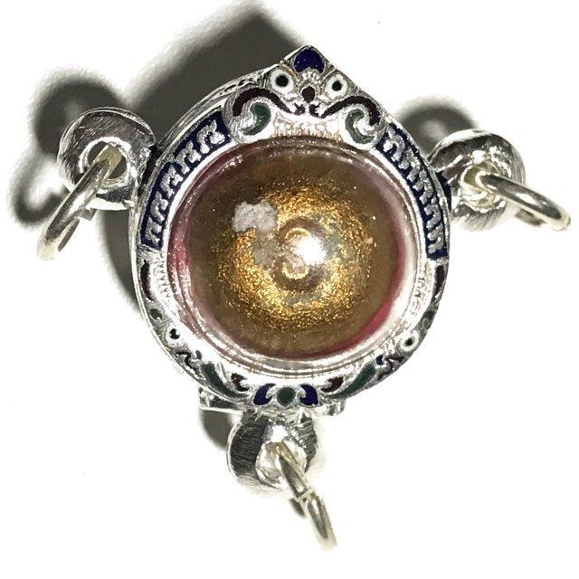 Look Om Pong Prai Kumarn Dtok Code 3 Niyom Ta Bronze Wanich Luang Phu Tim Released 2517 BE at Wat Po Sampant 03593