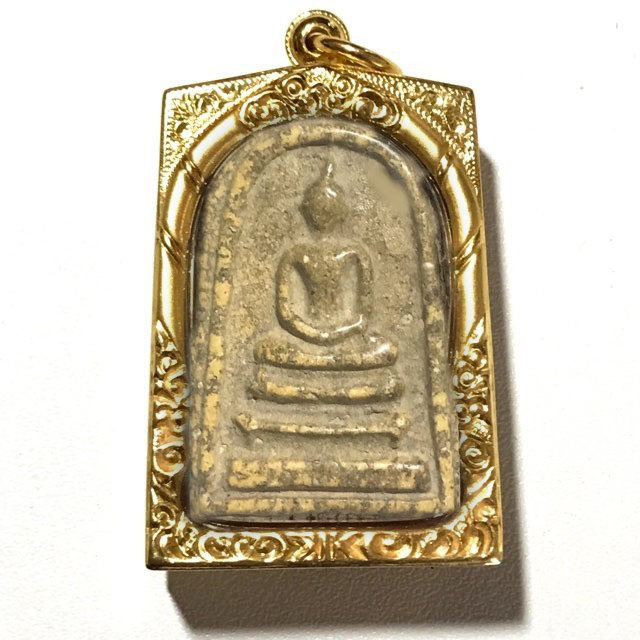 Pra Somdej Wat Rakang Pim Gaes Jarod Sum Chang Luang Wijarn with Certificate - Somdej Dto Prohmrangsri Free Gold Casing 03590