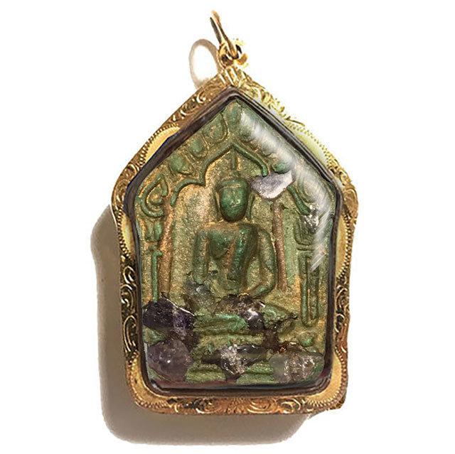 Khun Phaen Prai Kumarn 2515 BE First Prize Trophy Winner Nuea Khiaw 9 Takrut Fang Loha With Gems Free Gold Casing LP Tim