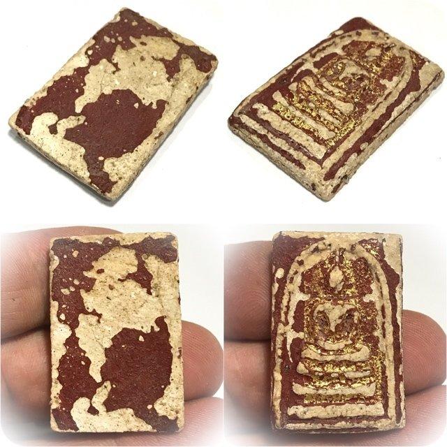 Pra Somdej Wat Rakang Long Rak Pid Tong Pim Chang Luang Wijarn Circa 2396 BE Gold Leaf Red Lacquer & Authenticity Certificate