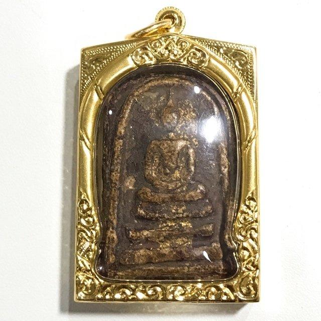 Somdej Wat Rakang Gaes Jarod Sum Long Rak Pid Tong Chang Luang Sittigarn 5th Prize Certificate & Gold Casing Somdej Dto