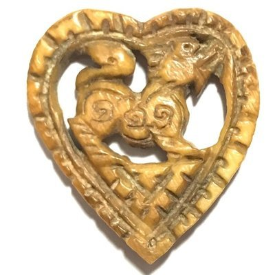 Singh Sam Khwan Gae Nga Himapant Carved Singha Lion Heart Luang Por Derm Wat Nong Po Free EMS