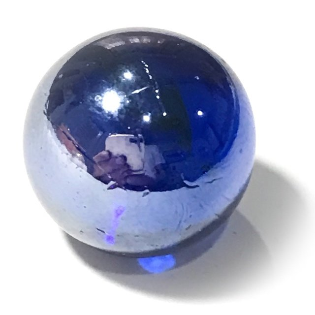 Look Gaew Sarapat Neuk Klueab Parort Alchemical Crystal Wishing Ball Blue 1.5 Cm Luang Por Opasi 2490 BE 03675