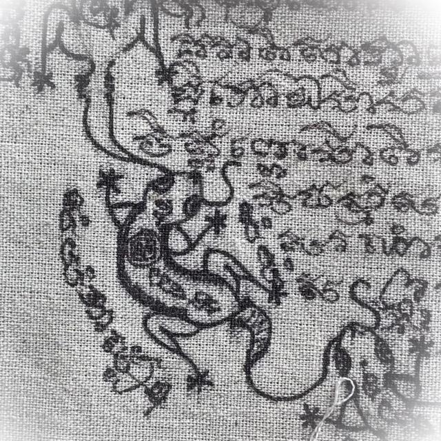 Pha Yant Jing Jok Maha Sanaeh Maha Lap Early Era Hand Inscribed Luang Phu Nai Wat Ban Jaeng