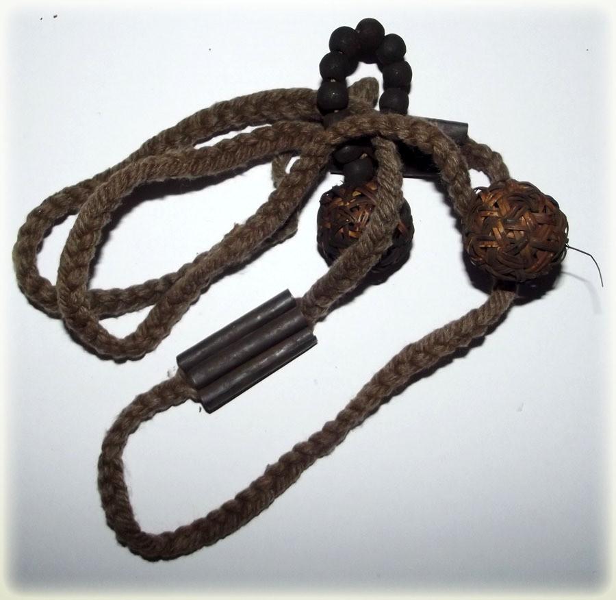 Prakot Aew & Prakam Hwaay Look Takror Waist Cord with Hand Rosary - Luang Por Sud Wat Ka Long 2445 - 2526