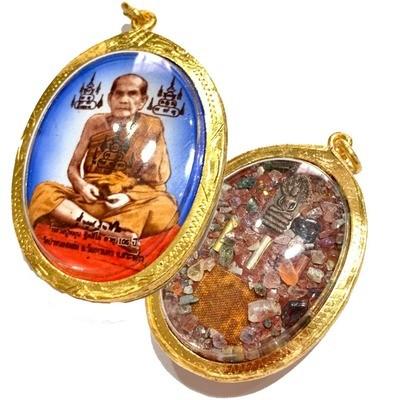 Locket Jumbo Ongk Kroo 2542 BE 105 Years Edition Ud Muan Sarn 108 Fang Nakprok 3 Takrut Ploi Sek Dtid Jiworn Luang Phu Hmun