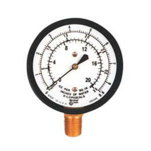 Marsh 2.5in Diaphragm Gauge, 1/4