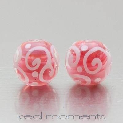 Helix in pearl pink and white