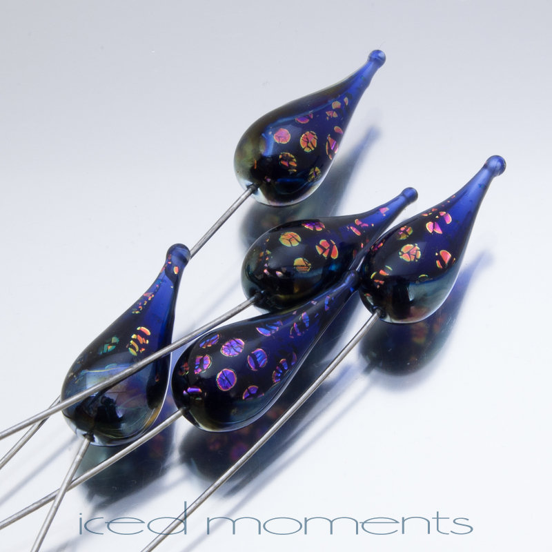 Carnival teardrop in dotted dichroic