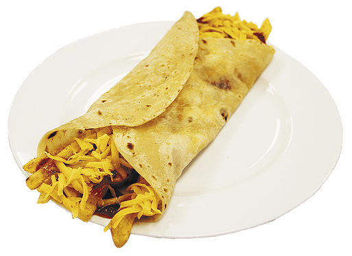 Chip, Cheese and Chilli Roti Roll