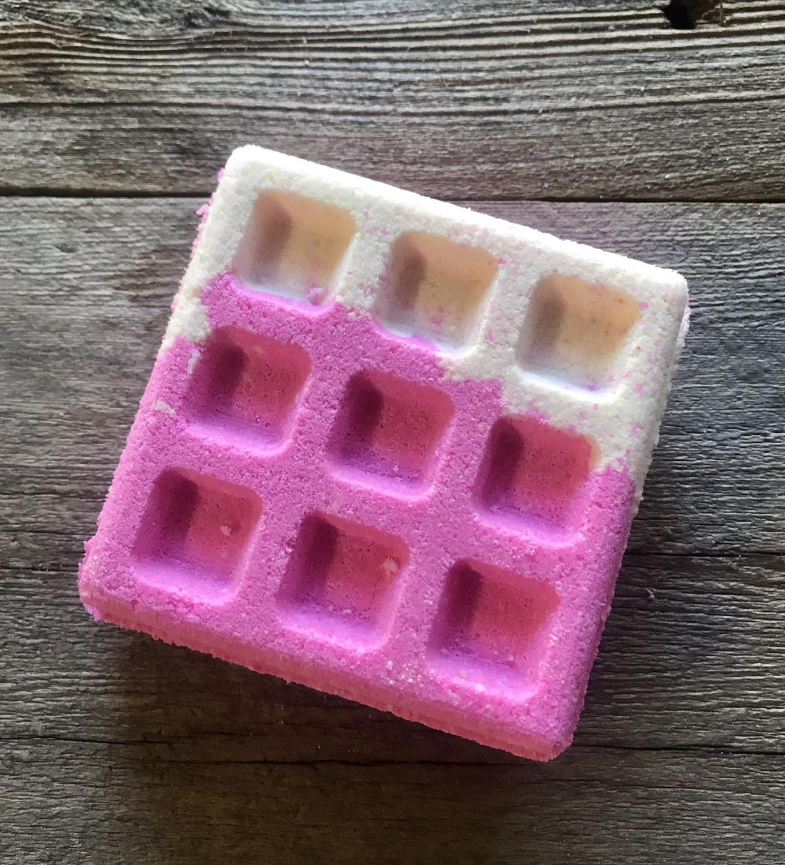 Pink Sugar Bath Bomb Waffle