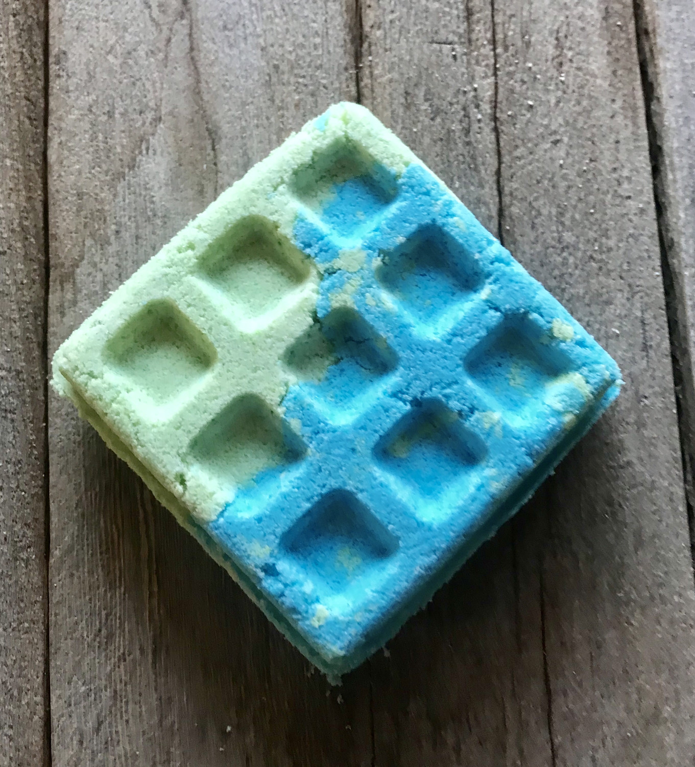 Coconut Lime Bath Bomb Waffles