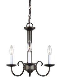 Heirloom Bronze Three Light Chandelier