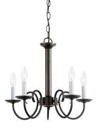 Heirloom Bronze Five Light Chandelier