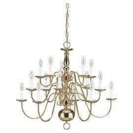 Polished Brass 15 Light Chandelier
