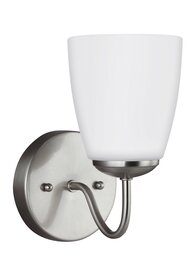 Brushed Nickel One Light Wall Sconce