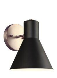 Satin Bronze / Black One Light Wall Sconce