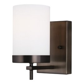 Brushed Oil Rubbed Bronze One Light Wall Sconce