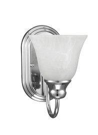 Chrome One Light Wall Sconce