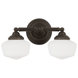 Heirloom Bronze Two Light Vanity Fixtures
