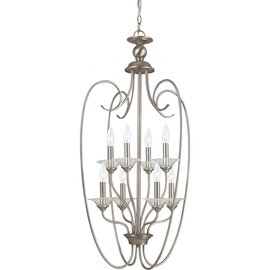 Antique Brushed Nickel Eight Light Pendant