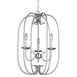 Brushed Nickel Three Light Pendant