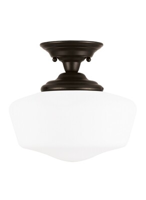 Heirloom Bronze One Light Semi-Flush Mount
