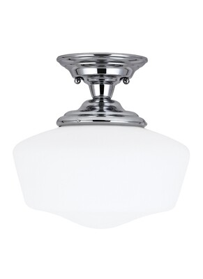 Chrome One Light Semi-Flush Mount