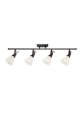 Burnt Sienna Four Light Track Lighting Kit