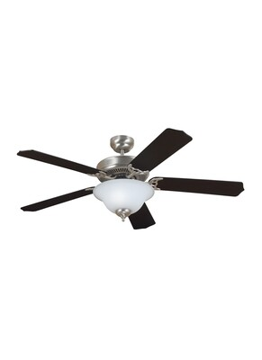 Brushed Nickel 52``Ceiling Fan