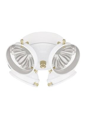 White Four Light Ceiling Fan Light Kit