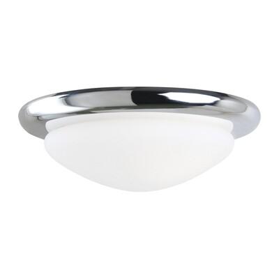 Chrome One Light Ceiling Fan Light Kit