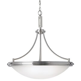 Brushed Nickel Four Light Pendant