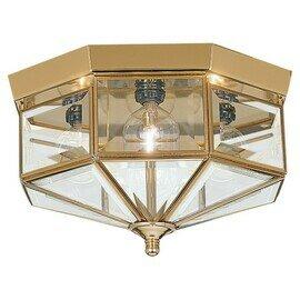 Polished Brass Four Light Flush Mount