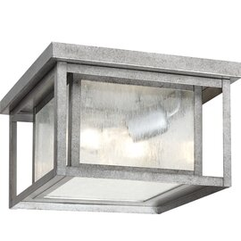 Weathered Pewter Two Light Ceiling Mount