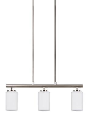Brushed Nickel Three Light Pendant