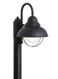 Black LED Post Mount