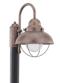 Weathered Copper LED Post Mount