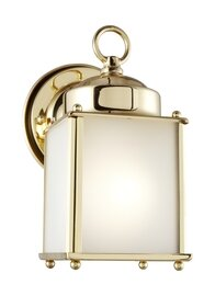 Polished Brass One Light Wall Mount