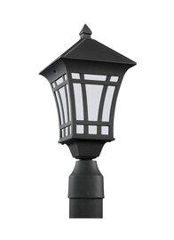 Black One Light Post Mount