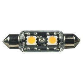 Satin White Lx LED Frosted Festoon Lamp - 3000K 12v